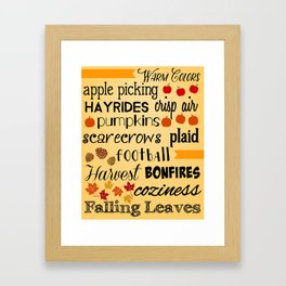 Autumn Love Framed Art Print