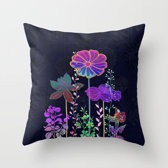 Flower Tales 3 Throw Pillow