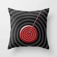game Throw Pillows featuring game by sladja
