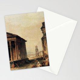 Hubert Robert - Ruins in Nimes Stationery Cards