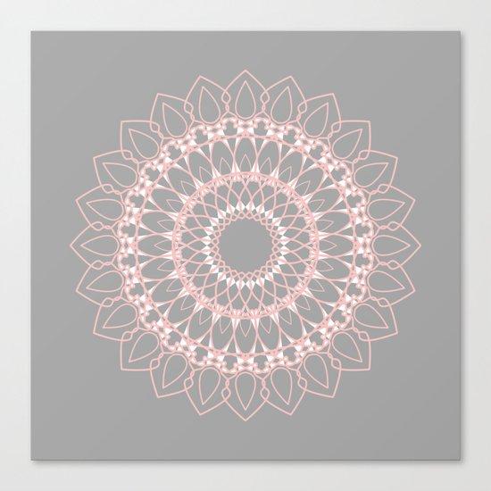 Mandala Rose  Canvas Print