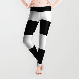Black and White Large Stripes Leggings