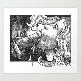 pornart/erotica/eroticart/felatio/blowjob/oralsex/sex/art/eroticillustration/porn Art Print