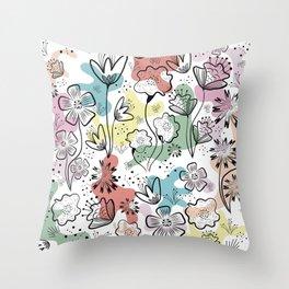 #Spring Pattern 2021 NeyBDesigns Throw Pillow