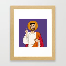North Korean Jesus Framed Art Print
