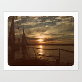 Sunset Sailing Art Print