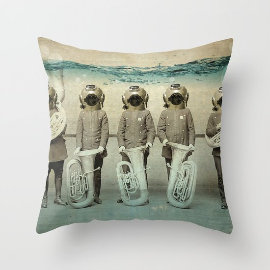 the diving bell Tuba quintet Throw Pillow