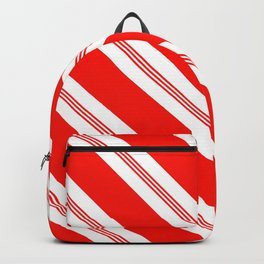 Candy Cane Stripes Holiday Pattern Backpack