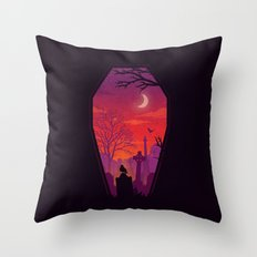 To The Grave Throw Pillow