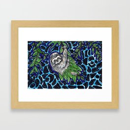 Sloth Climb Framed Art Print