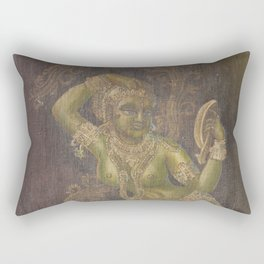 Darpana Sundari, India Sculpture - in Oil Rectangular Pillow