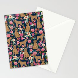 Brussels Griffon florals pattern for dog lovers custom pet friendly gifts for all dog breeds Stationery Cards