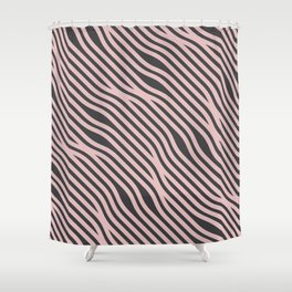 Abstract Wavy Hair Pattern Shower Curtain