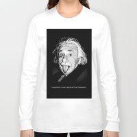 einstein Long Sleeve T-shirts featuring Einstein by Michelena