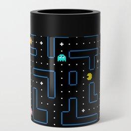 Pac-Man Retro Arcade Gaming Design Can Cooler