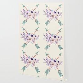 Floral Arrows Wallpaper