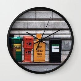 NewYork News Wall Clock