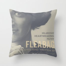 Fleabag, Phoebe Waller-Bridge, british tv comedy, minimalist poster Throw Pillow
