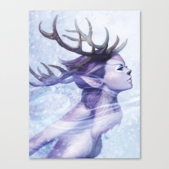 Deer Princess Canvas Print