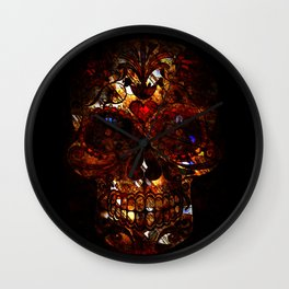 Day of the Dead Skull Death Mask Design Wall Clock