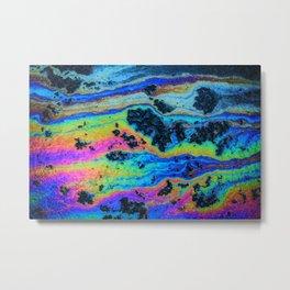Oil On Pavement: Mind Trip Metal Print