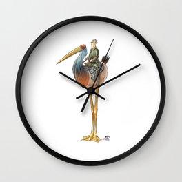 Numero 9 -Cosi che cavalcano Cose - Things that ride Things- Wall Clock