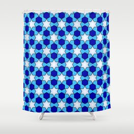 Stars And Hexes Shower Curtain