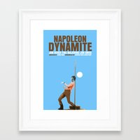 napoleon dynamite Framed Art Prints featuring Napoleon Dynamite Movie Poster Cult by FunnyFaceArt
