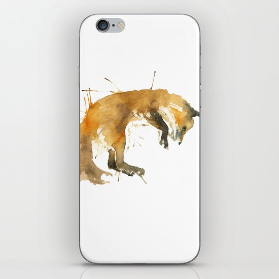 Sleepy Fox iPhone & iPod Skin