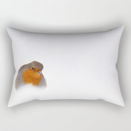 Colder Feet (Robin in the snow) Rectangular Pillow
