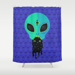 Alien Flu Shower Curtain