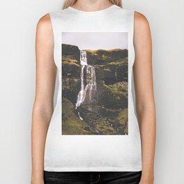 Waterfall Somewhere in Southern Iceland. Biker Tank