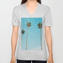 Palm Tree Sunshine Unisex V-Neck