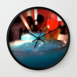 Blue Red Cereza Wall Clock