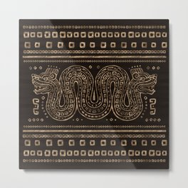 Aztec Double-headed serpent Metal Print