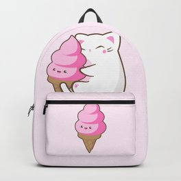 Ice cream lover chubby cat Backpack