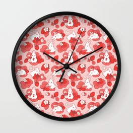 Strawbunny Delight Wall Clock