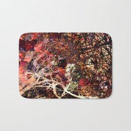 Rose Bramble Abstract Pattern Bath Mat