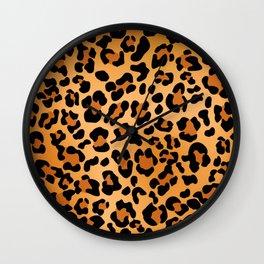 Desert leopard Wall Clock