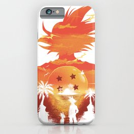 Dragonball sunset iPhone Case