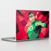 dc comics Laptop & iPad Skins featuring DC Comics Green Lantern by Eric Dufresne