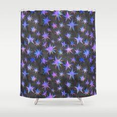 Starry Night {grey} Shower Curtain