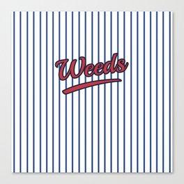 Weeds Typographic Design Canvas Print