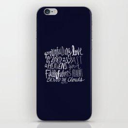Psalm 36: 5 x Navy iPhone Skin