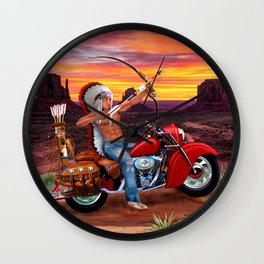 Indian Spirit Forever Wall Clock