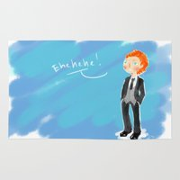 tom hiddleston Area & Throw Rugs featuring Tom Hiddleston - Ehehehe! by Delucienne Maekerr