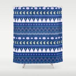 patterns moon Shower Curtain