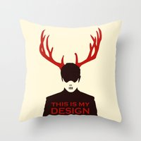 hannibal Throw Pillows featuring Hannibal by Pixel Design