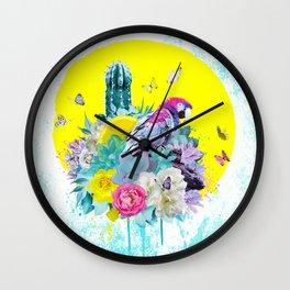 FLORAL ARA Wall Clock
