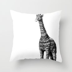 Ornate Giraffe Throw Pillow